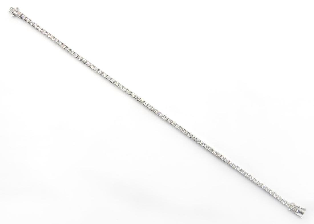 18ct white gold brilliant diamond tennis bracelet, - 2