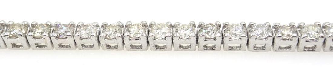 18ct white gold brilliant diamond tennis bracelet, - 3