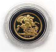 1979 gold proof sovereign cased