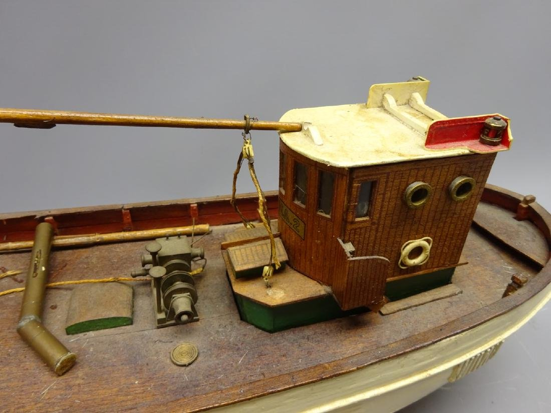 Wooden planked hull scale model of the Danish Fishing - 2