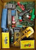 Ten Matchbox 1-75 Series military vehicles, two