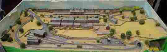 NGuage table top model railway layout with panoramic