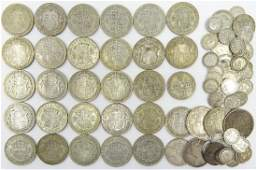 Quantity of Great British pre 1947 silver coinage 420