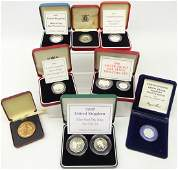 Collection of cased United Kingdom silver coins; 1982
