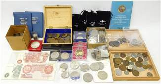 Collection of Great British and World coins including