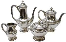 Early 20th century Christofle Gallia four piece