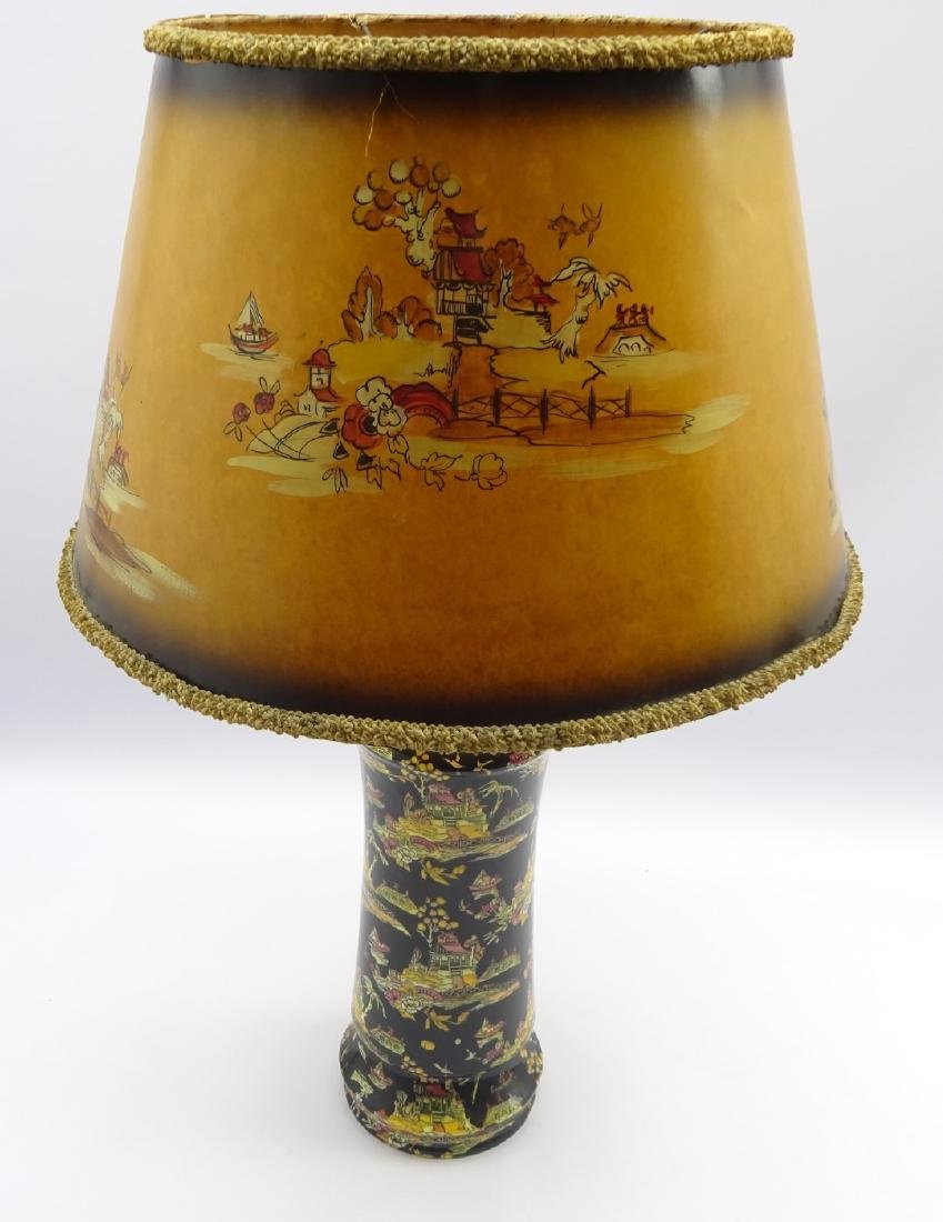 Royal Winton Chinoiserie design ceramic table lamp with