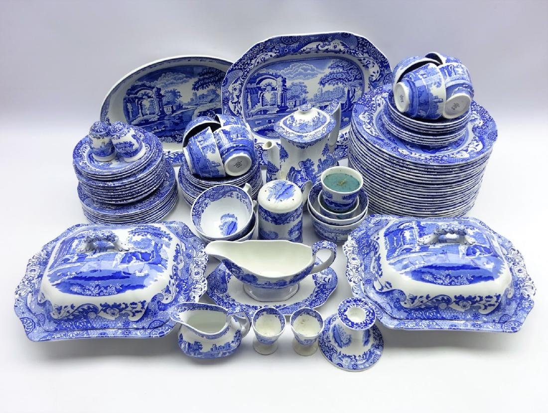 Spode Italian blue and white dinner, tea and coffee