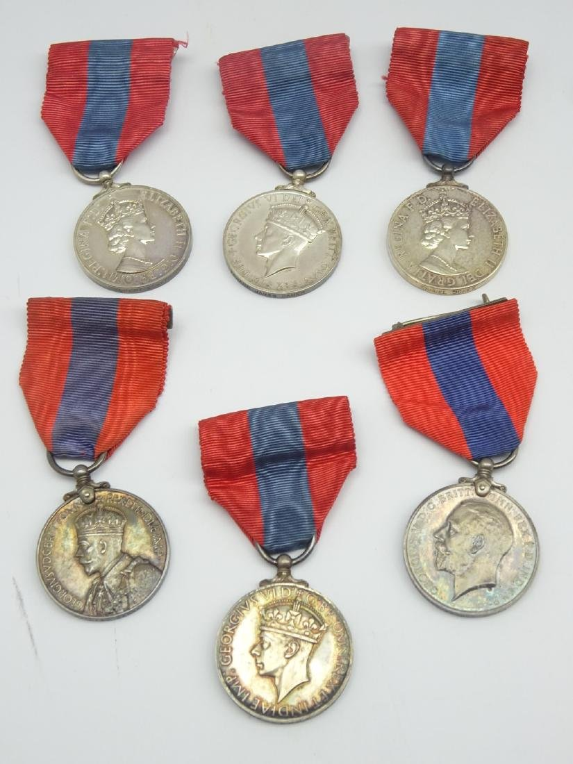 A group of 6 Imperial Service Medals all boxed