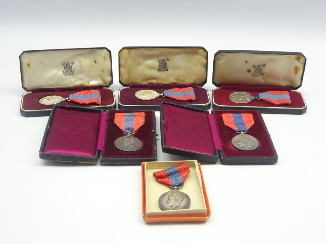A group of 6 Imperial Service Medals all boxed - 2