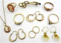 Gold three stone diamond ring stamped 18ct, gold