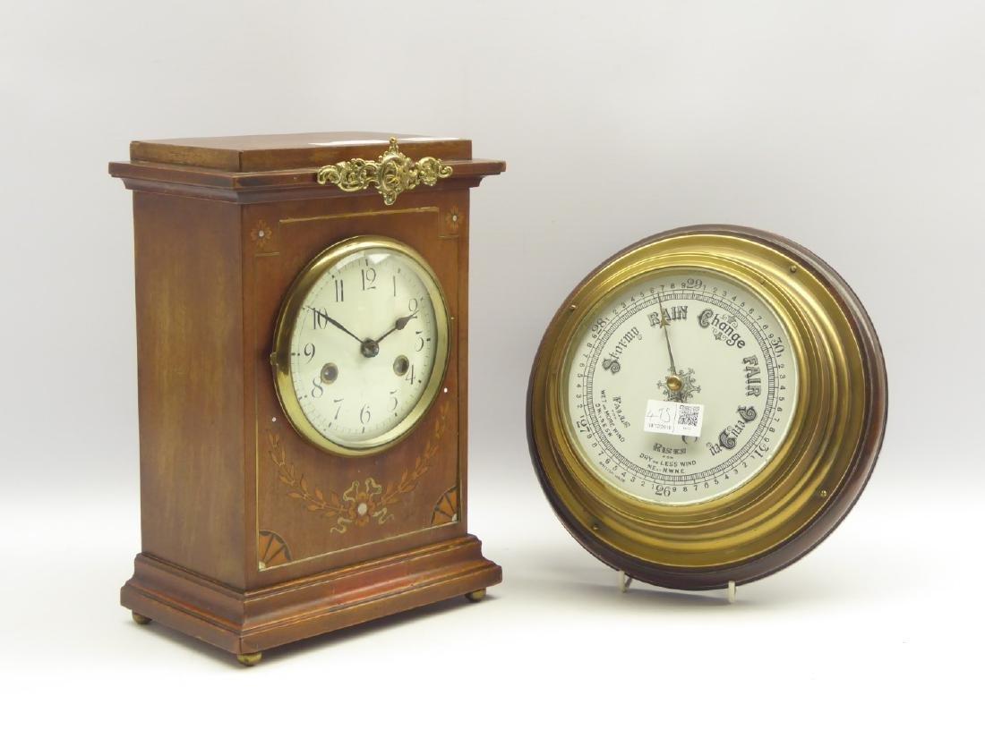 Early 20th century mahogany cased mantel clock,