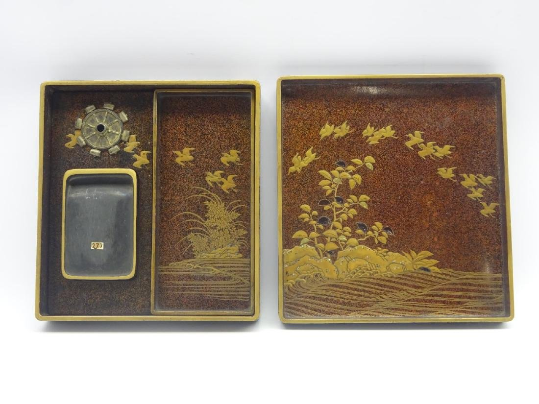 Japanese lacquer writing box, Edo period (18th - 2