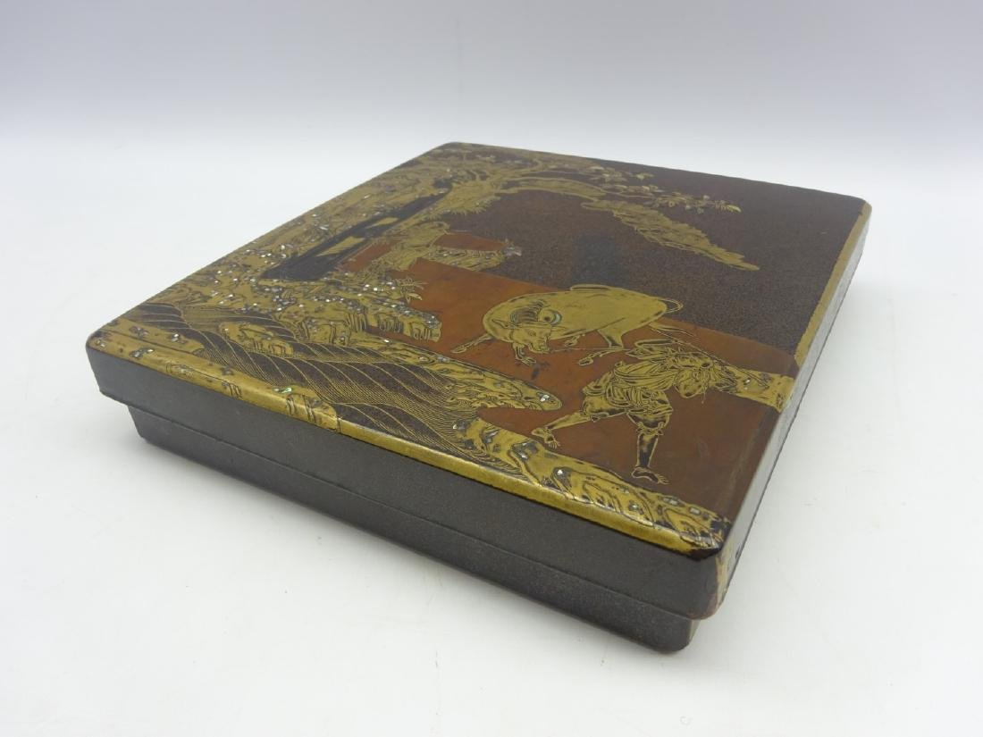 Japanese lacquer writing box, Edo period (18th - 3