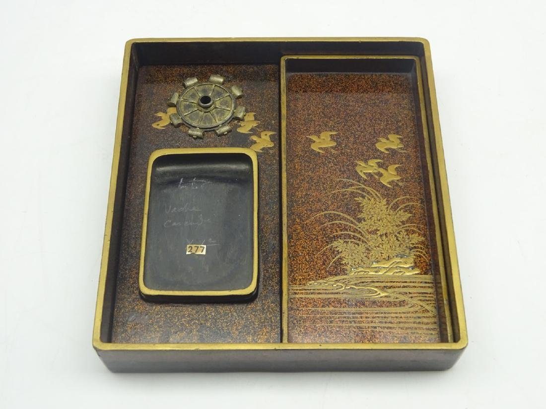 Japanese lacquer writing box, Edo period (18th - 5