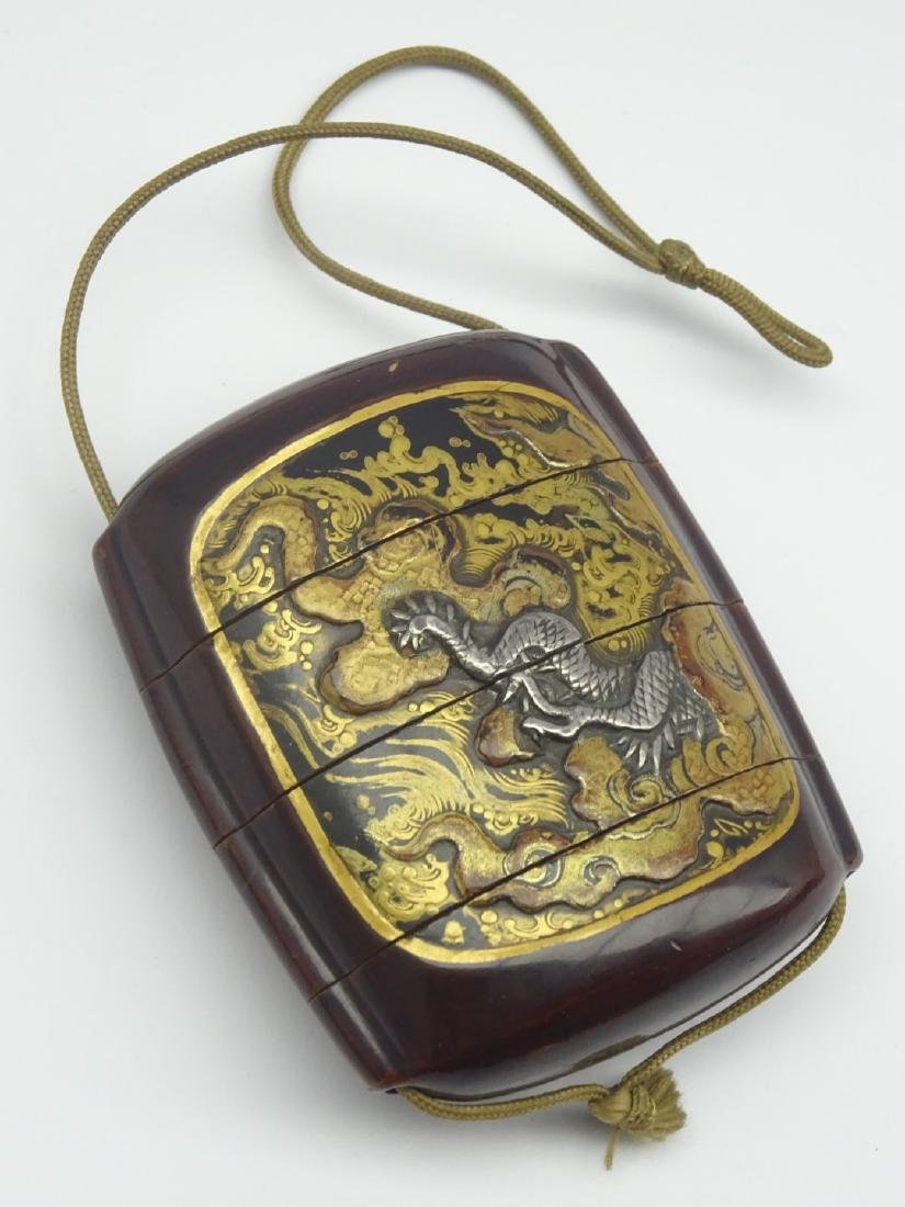 Japanese Three-Case lacquer Inro, Edo period (18th - 2