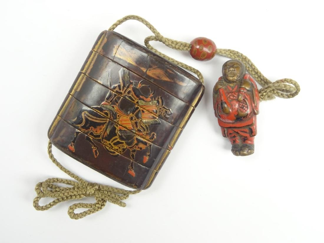 Japanese lacquer four-case Inro, 18th Century, - 2
