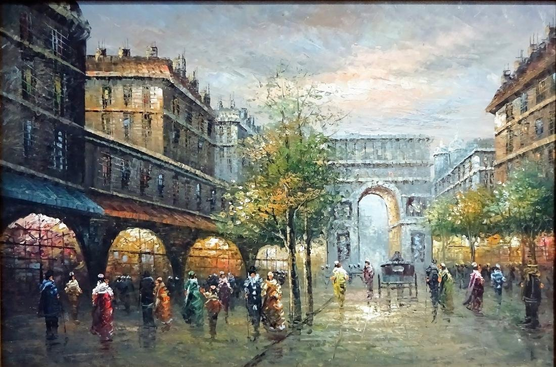 Continental School (20th century): Parisian Street