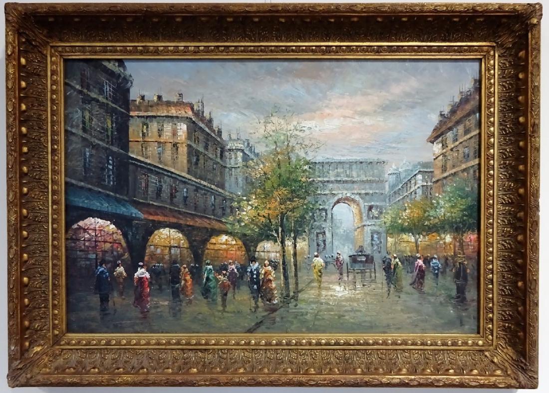Continental School (20th century): Parisian Street - 2