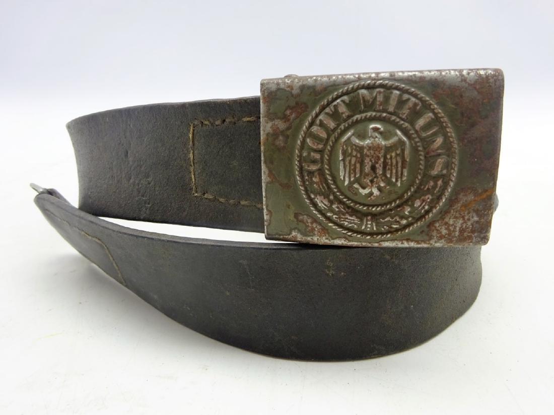 WWII German Third Reich army belt buckle stamped 'Gott