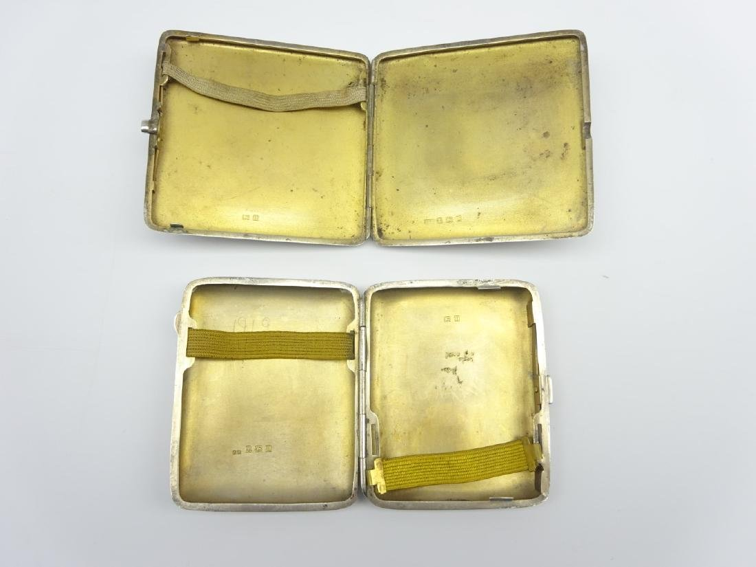 Engine turned silver cigarette case Birmingham 1919 and - 2