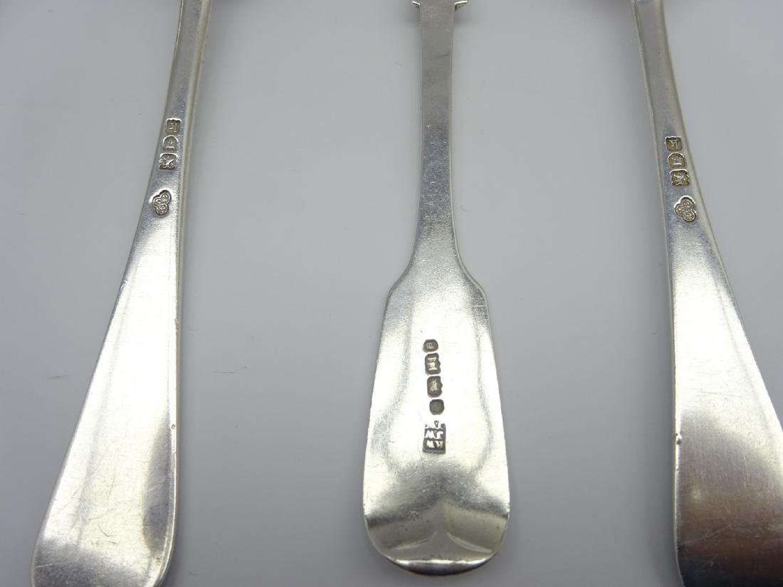 19th Century engraved silver Christening spoon and - 4