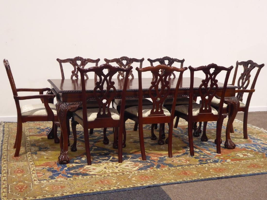 Chippendale style mahogany dining table, rectangular - 2
