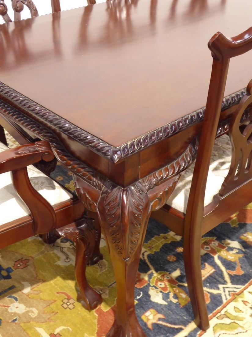 Chippendale style mahogany dining table, rectangular - 4