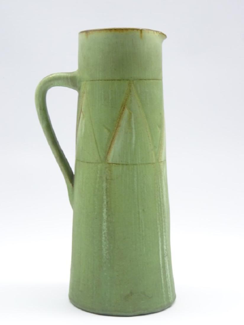 T.W. Lemon Wesuma pottery jug of tapering form with