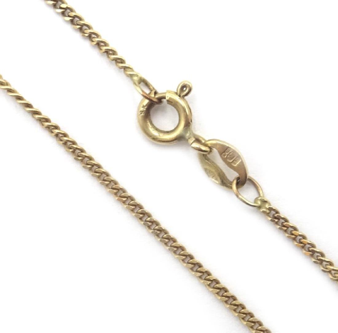 9ct gold sapphire and diamond necklace, hallmarked - 3