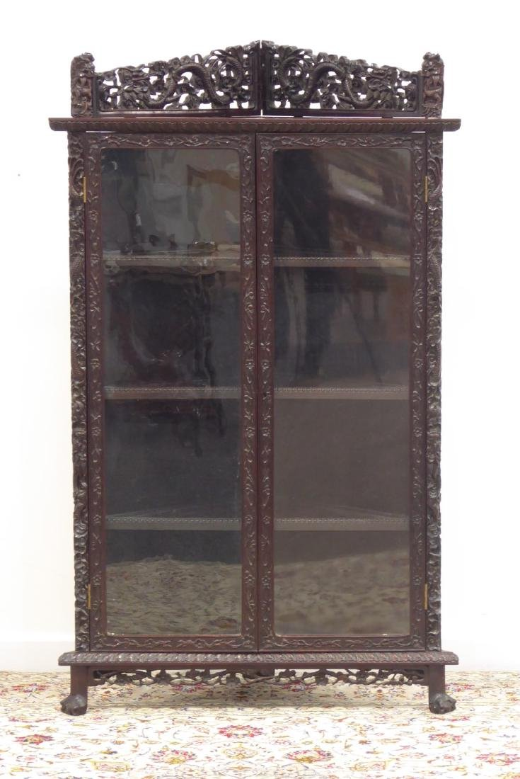 Late 19th/early 20th century Chinese hardwood corner