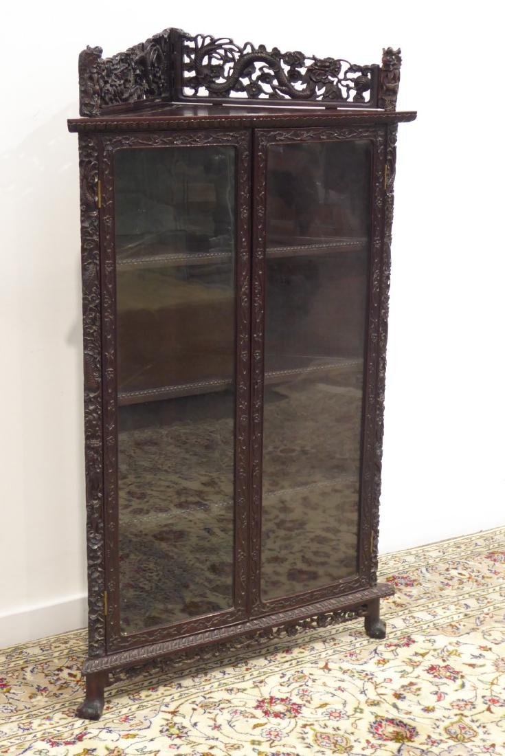 Late 19th/early 20th century Chinese hardwood corner - 2