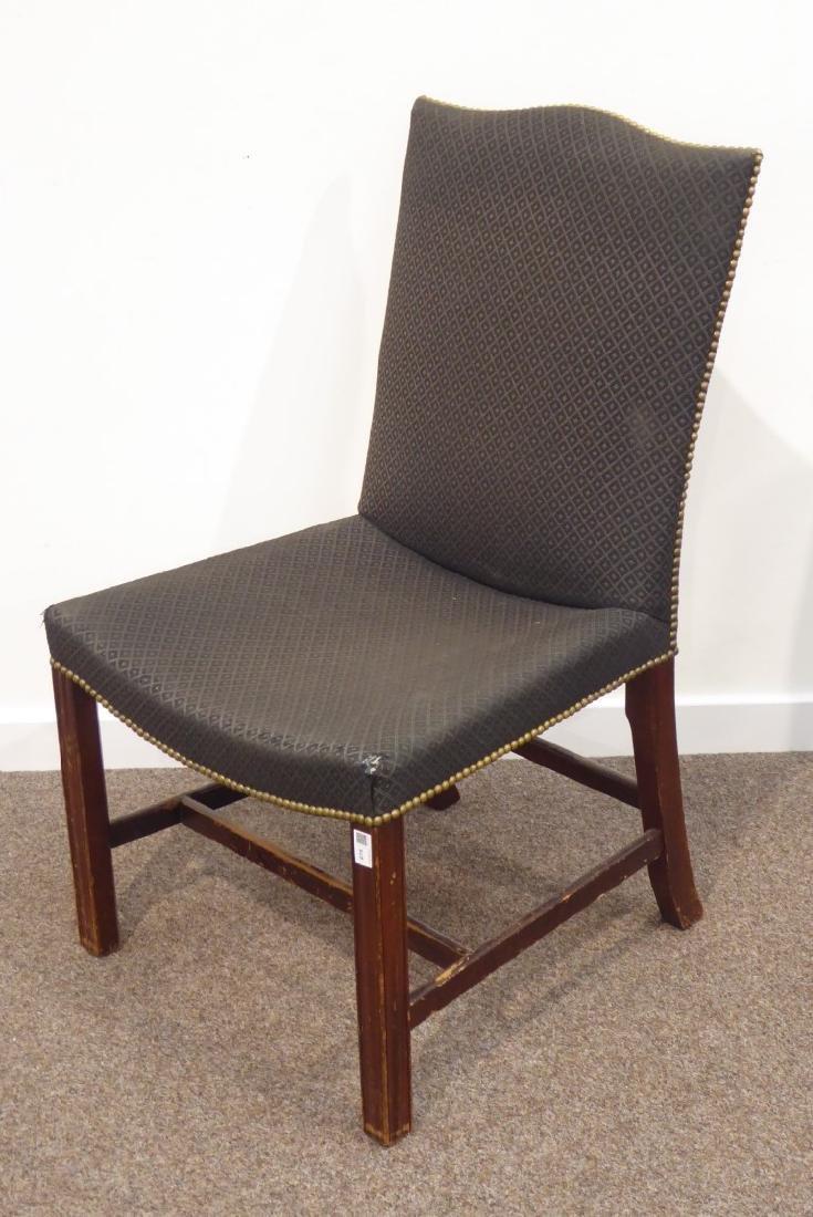 Georgian mahogany dining chair pierced splat back, wide - 4