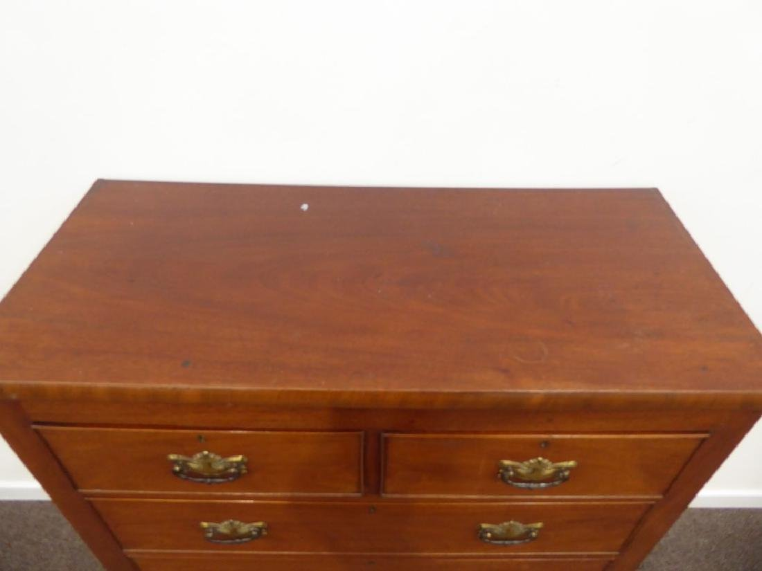 19th century chest fitted with two short and three long - 3