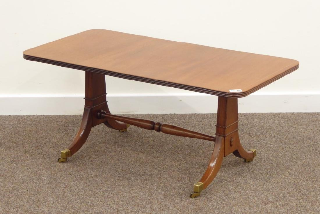 Regency style coffee table, rectangular moulded top,