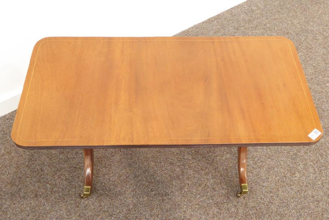 Regency style coffee table, rectangular moulded top, - 3