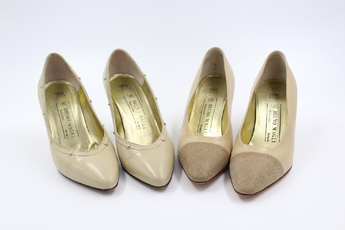 Two Pairs of Vintage  Bruno Magli Pump Heels