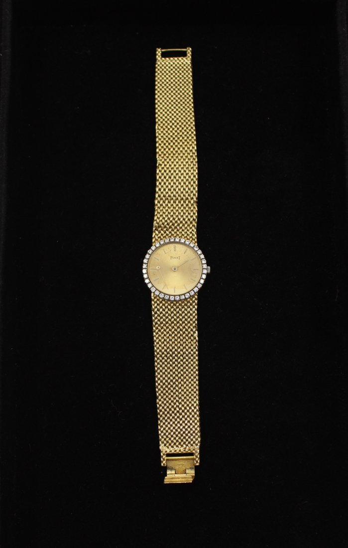 Vintage 18k Gold Diamond Piaget Ladies Wrist Watch