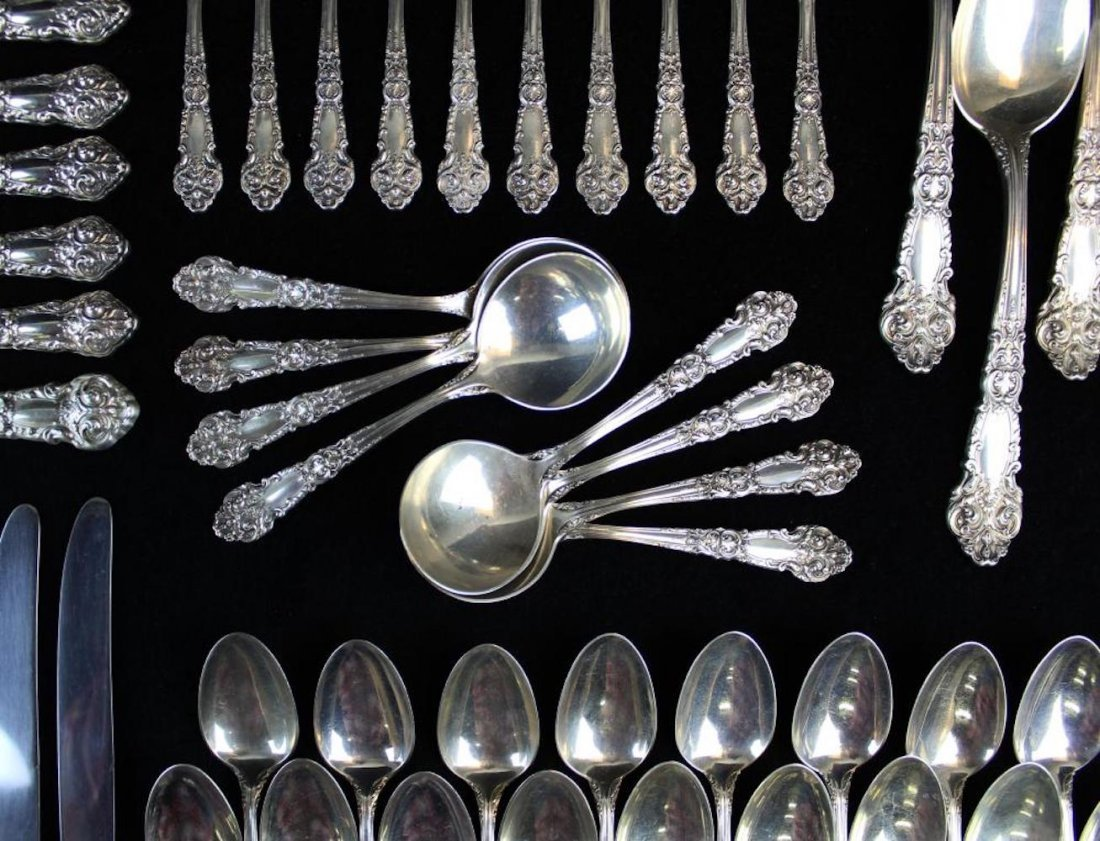 109 pcs. Reed & Barton sterling silver flatware - 6