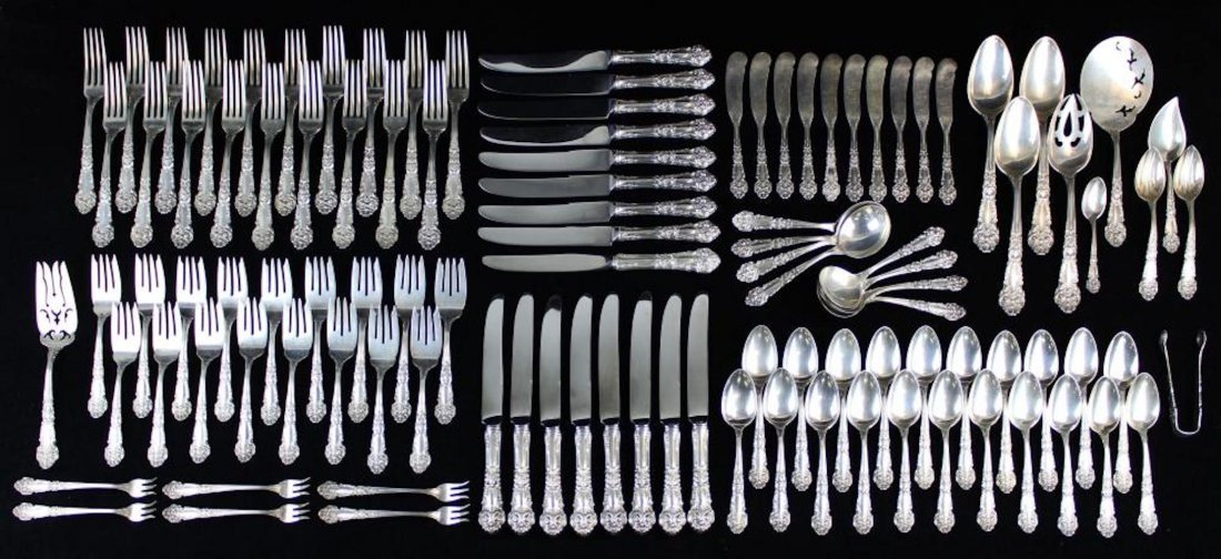 109 pcs. Reed & Barton sterling silver flatware - 7