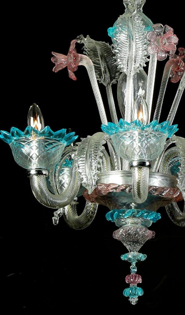 Italian Murano Glass Daffodil Chandelier - 2