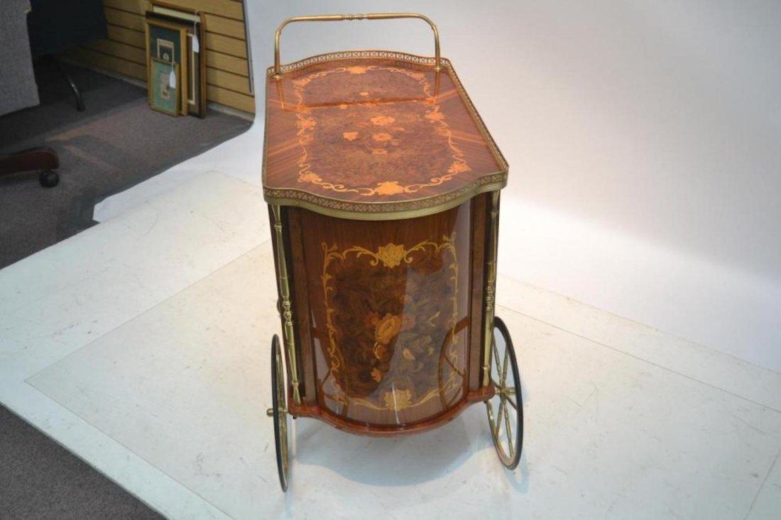 Italian Inlaid Beverage Cart - 8