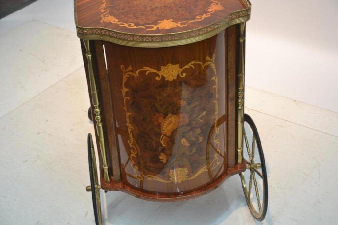 Italian Inlaid Beverage Cart - 9
