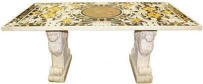 18th Century Italian Pietra Dura Marble-Top Table