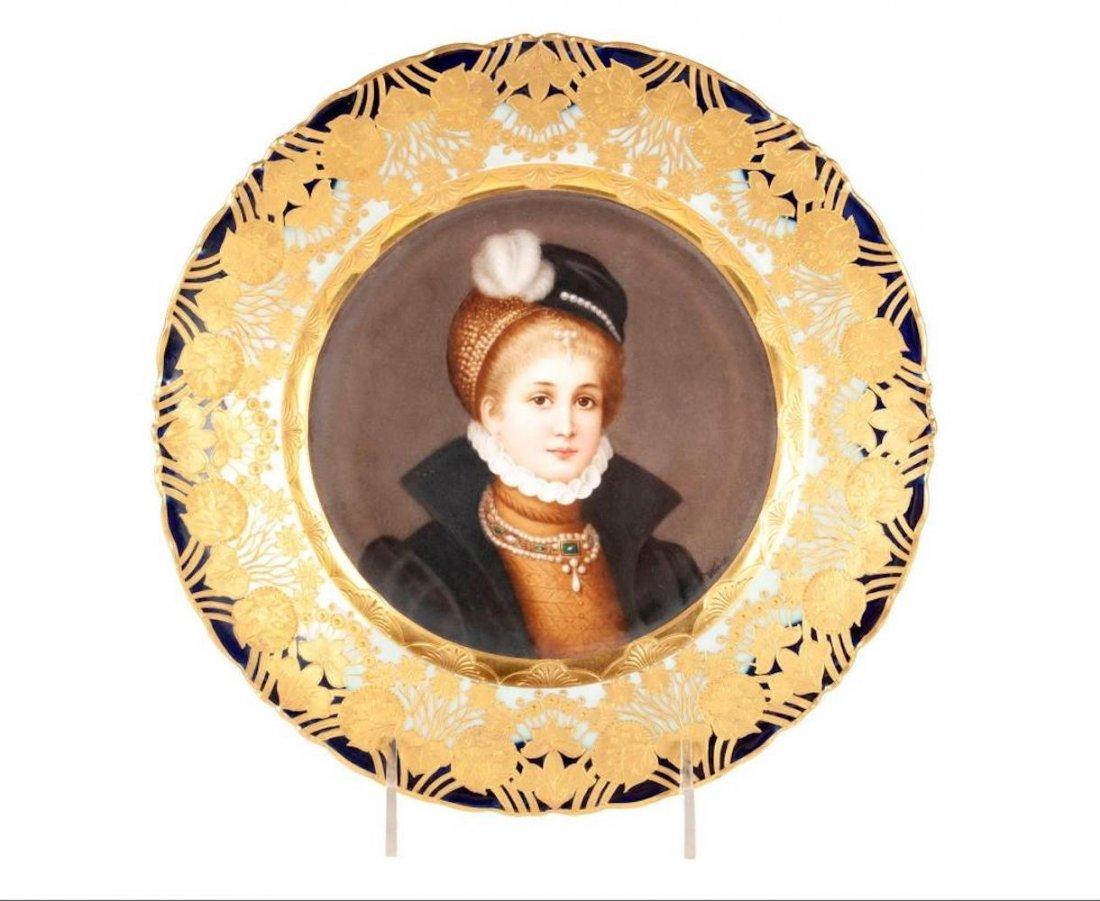 Royal Vienna Portrait Plate of Philippine Welser