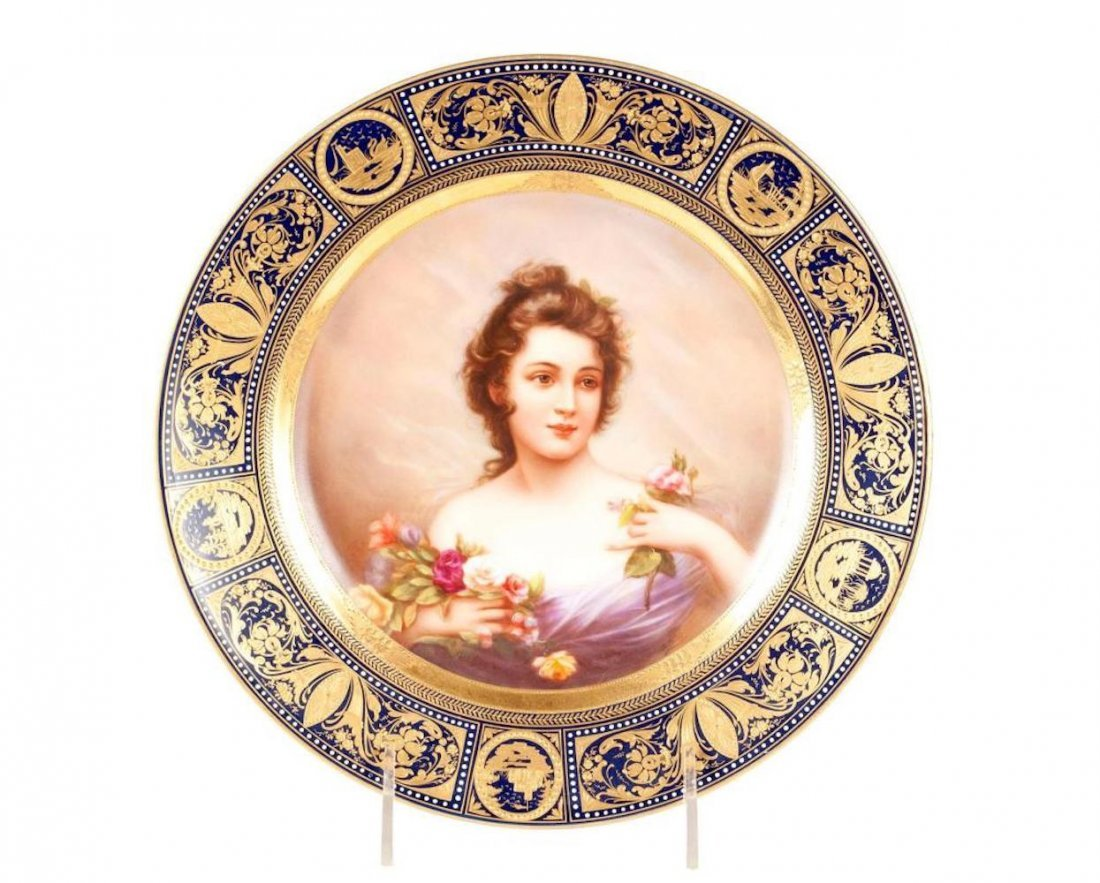 Royal Vienna Portrait Plate 'B'