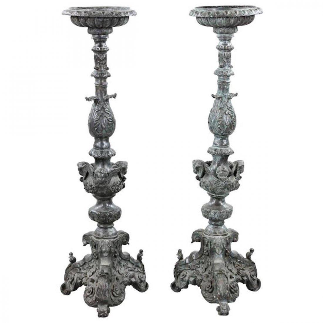 Pair of 19th Century Renaissance Revival Torchieres