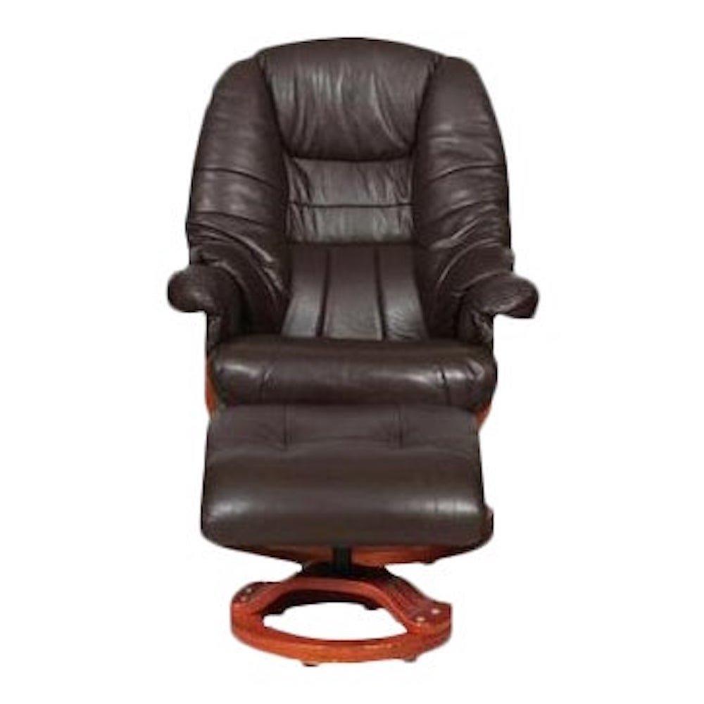 Modernist Scandinavian Leather Swivel Chair C