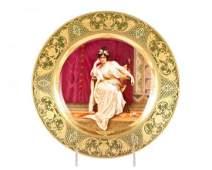 Royal Vienna Portrait Plate 'A'