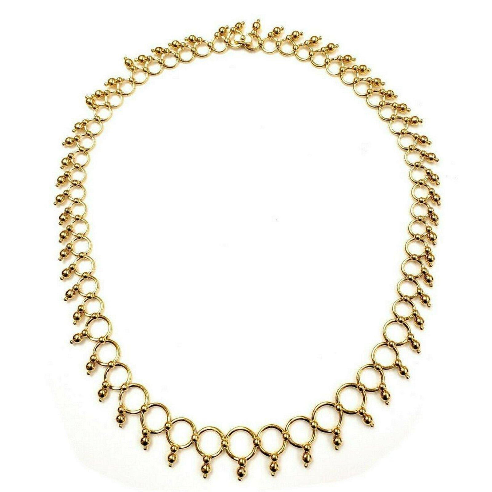 Tiffany & Co. 18K Gold Kashmir Necklace